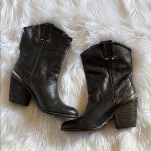 Lucky Brand Elle Western Mid Calf Boot